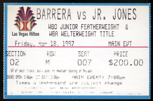 BARRERA, MARCO ANTONIO-JUNIOR JONES II STUBLESS TICKET (1997)