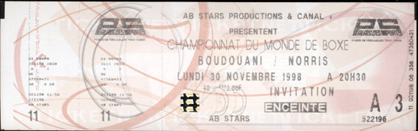 BOUDOUANI, LAURENT-TERRY NORRIS FULL TICKET (1998)