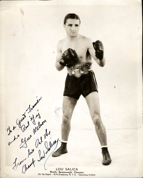 Salica,Lou Vintage Signed Photo as Champion