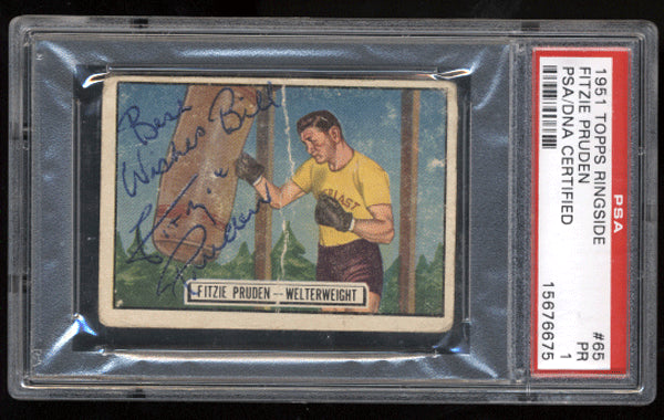 Pruden,Fitzie Signed 1951 Topps Ringside PSA