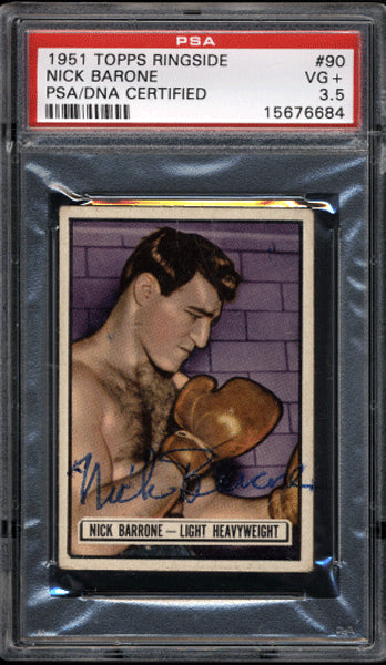 Barone,Nick Signed 1951 Topps Ringside PSA