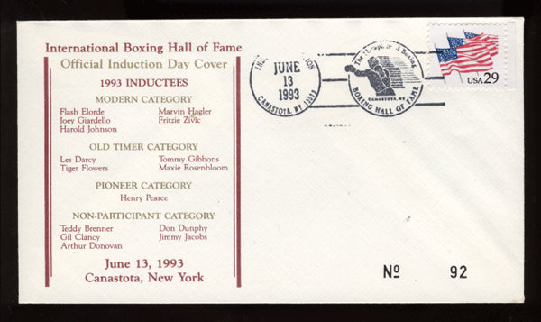 1993 Boxing Hall of Fame Cache