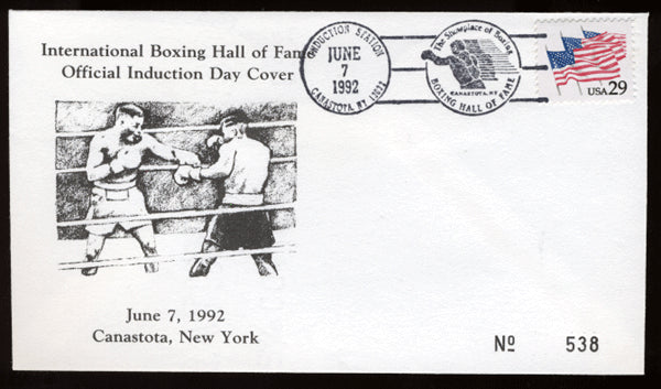 1992 Boxing Hall of Fame First Day Cover