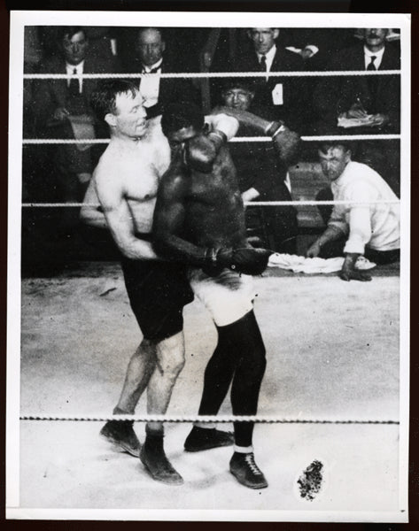 McTique,Mike-Battling Siki Antique Wirephoto in Action  1923