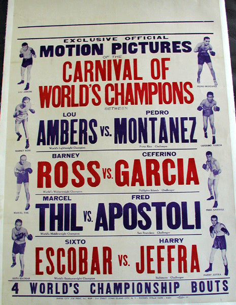 Carnival Of Champions Fight Film Poster (1937)