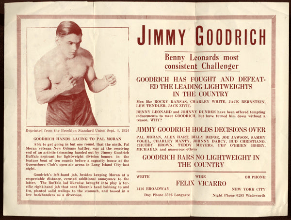 Goodrich,Jimmy Vintage Promotional Flyer