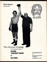 "MANCINI, RAY ""BOOM BOOM""-PHIL BOWEN OFFICIAL PROGRAM (MANCINI'S PRO DEBUT-1979)"