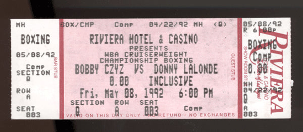 Czyz,Bobby-LaLonde Full Ticket  1992