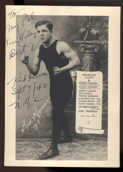 Herman,Kid Signed Photo