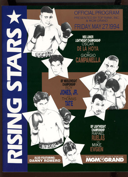 De La Hoya,Oscar-Campanella and Roy Jones Jr.-Tate Official Program  1994