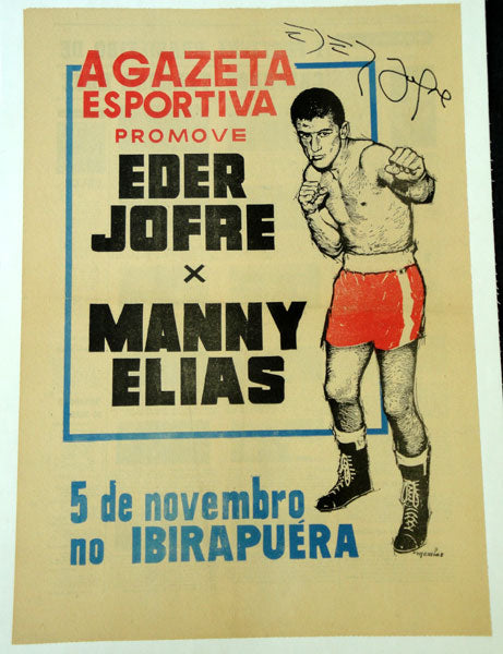 JOFRE, EDER-MANNY ELIAS SIGNED ON SITE POSTER (1965)