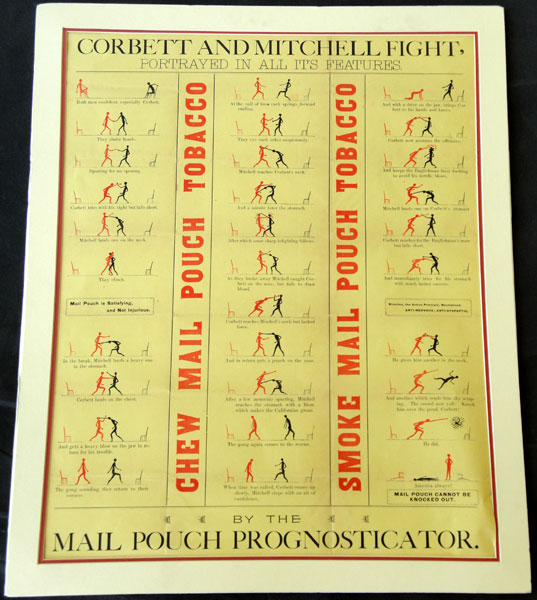 CORBETT-MITCHELL TOBACCO ADVERTISING POSTER (1894)