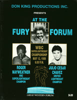 CHAVEZ, JULIO CESAR-ROGER MAYWEATHER OFFICIAL PROGRAM (1989)