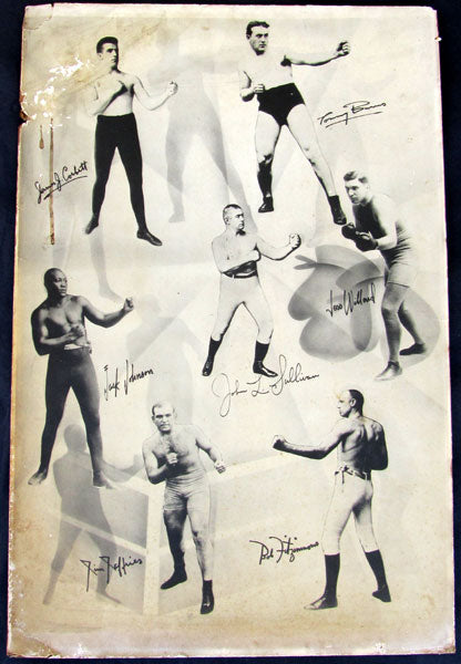 EARLY BOXING HEAVYWEIGHT CHAMPIONS POSTER (CIRCA 1915)