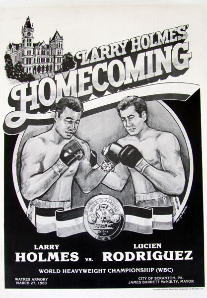 HOLMES, LARRY-LUCIEN RODRIGUEZ ON SITE POSTER (1983)