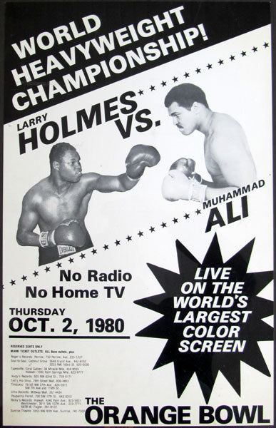 ALI, MUHAMMAD-LARRY HOLMES CLOSED CIRCUIT POSTER (1980)