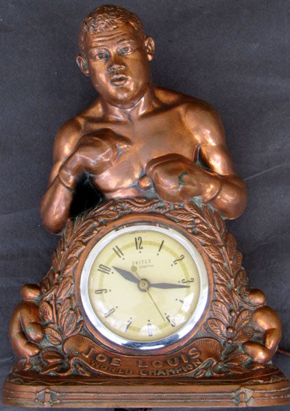 LOUIS, JOE SOUVENIR CLOCK (LATE 1930'S)