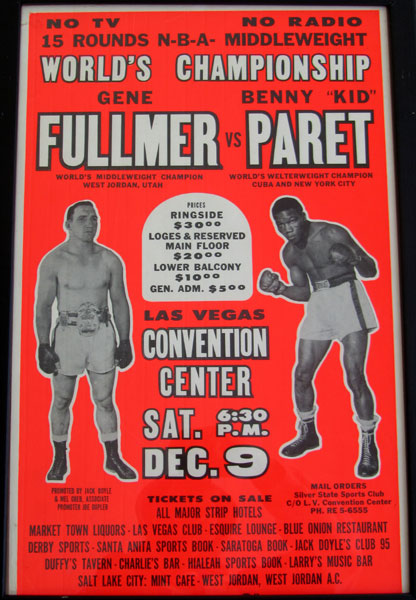 "FULLMER, GENE-BENNY ""KID"" PARET ON SITE POSTER (1961)"