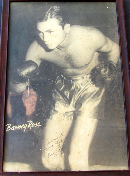 ROSS, BARNEY LARGE FORMAT SIGNED PHOTOGRAPH