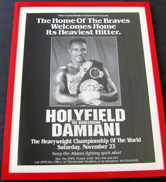 HOLYFIELD, EVANDER-FRANCISCO DAMIANI ON SITE POSTER (1991)