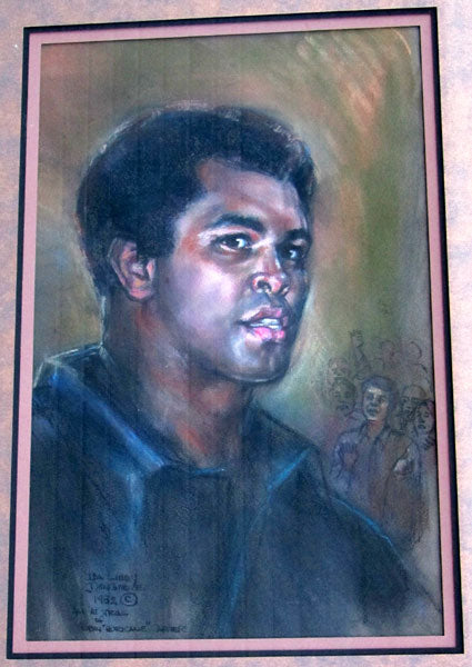 ALI, MUHAMMAD ORIGINAL COURT SKETCH BY IDA LIBBY DENGROVE (1982-CARTER-ARTIS TRIAL)