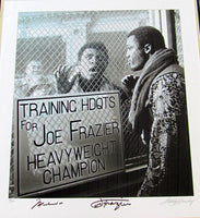 ALI, MUHAMMAD & JOE FRAZIER LIMITED EDITION LARGE FORMAT SIGNED PHOTO (BY GEORGE KALINSKY)