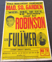 ROBINSON, SUGAR RAY-GENE FULLMER I ON SITE SIGNED POSTER (1957)