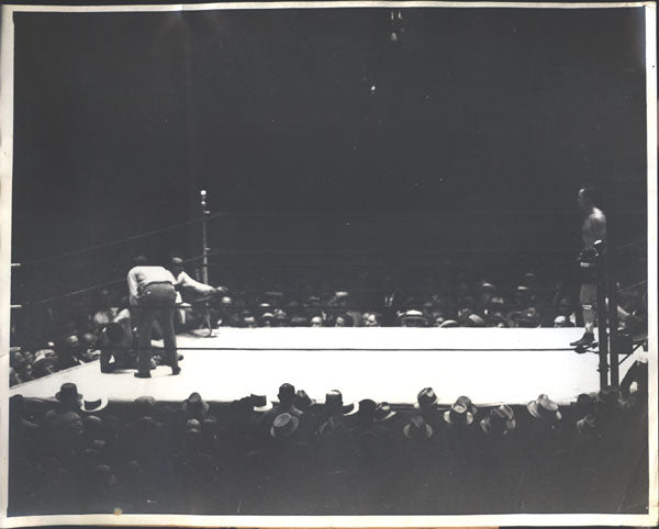 SCHMELING, MAX-JACK SHARKEY I ORIGINAL WIRE PHOTO (1930)