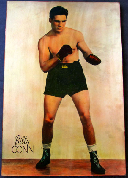 CONN, BILLY HAND COLORED LARGE FORMAT PHOTOGRAPH (1940'S)