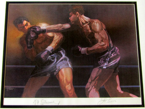 LOUIS, JOE & MAX SCHMELING SIGNED SPORTS ILLUSTRATED PRINT