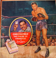 LOUIS, JOE ADVERTISING POSTER (FOR CHESTERFIELD CIGARETTES)