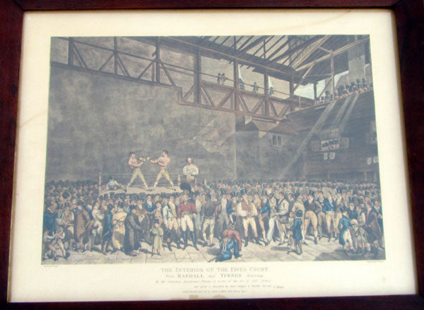 INTERIOR OF THE FIVES COURT  PRINT (1821)