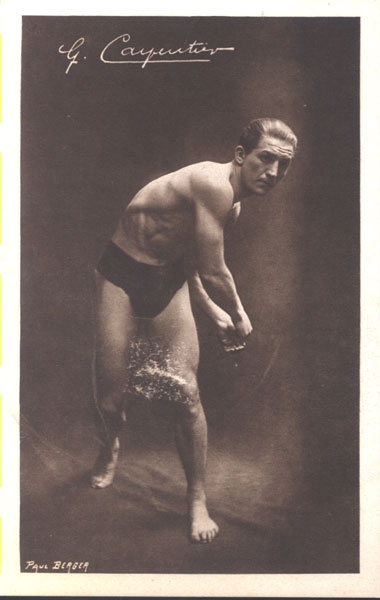 CARPENTIER, GEORGES REAL PHOTO POSTCARD