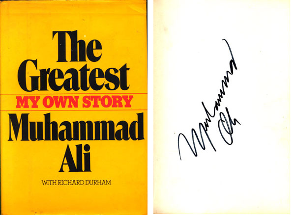 ALI, MUHAMMAD VINTAGE SIGNED BOOK THE GREATEST