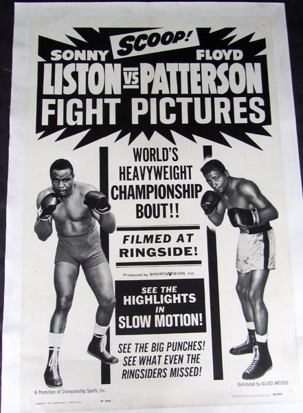 LISTON, SONNY-FLOYD PATTERSON II FIGHT FILM POSTER (1963)