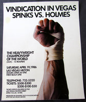 HOLMES, LARRY-MICHAEL SPINKS II ON SITE POSTER (1986)