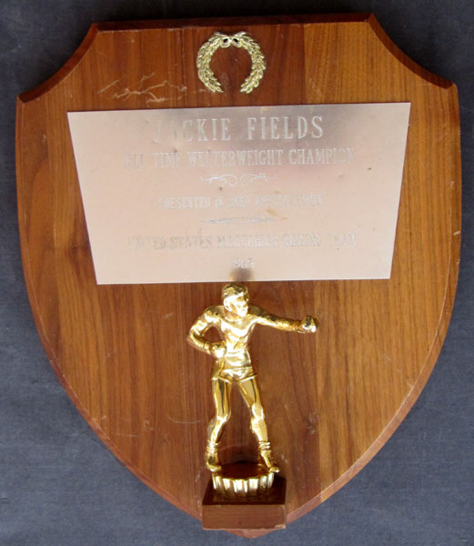 FIELDS, JACKIE ALL TIME WELTERWEIGHT AWARD (1965)
