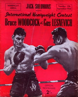 LESNEVICH, GUS-BRUCE WOODCOCK OFFICIAL PROGRAM (1946)