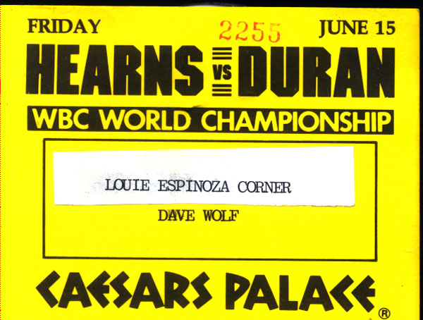 HEARNS, THOMAS-ROBERTO DURAN CREDENTIAL (1984)