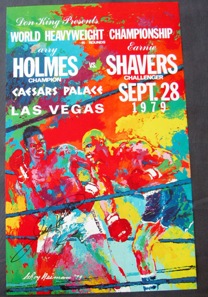 HOLMES, LARRY-EARNIE SHAVERS ON SITE POSTER (1979-SIGNED BY HOLMES)