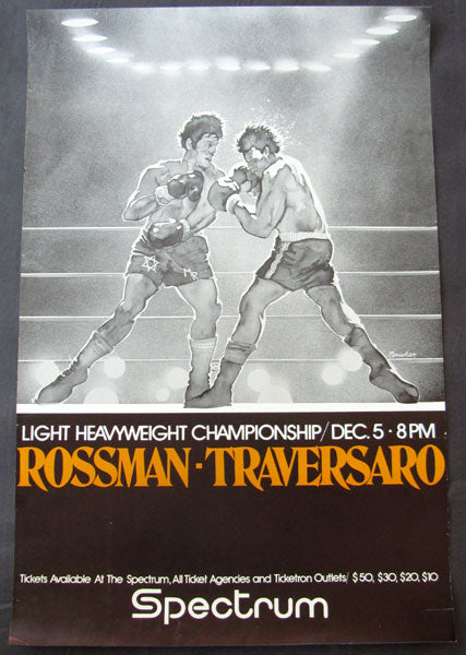 ROSSMAN, MIKE-ALDO TRAVERSARO ON SITE POSTER (1978)