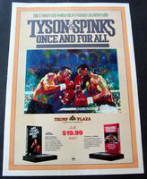 TYSON, MIKE-MICHAEL SPINKS ON SITE POSTER (1988-RARE VARIATION)