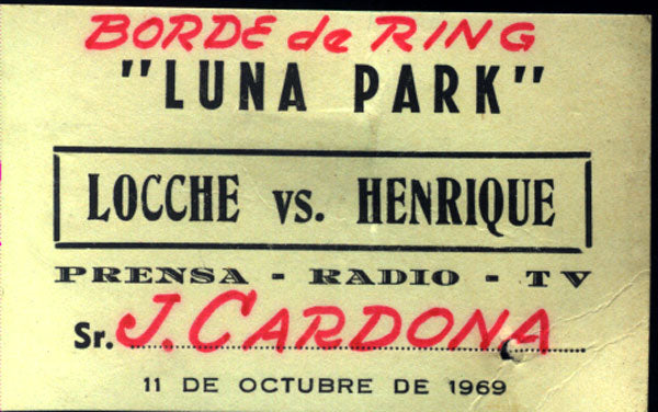 LOCCHE, NICOLINO-JOAO HENRIQUE PRESS PASS (1969)