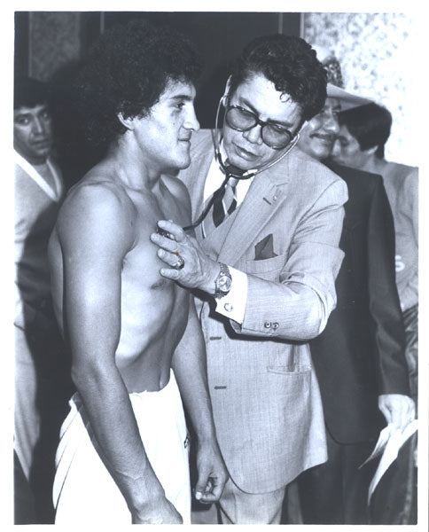 SANCHEZ, SALVADOR ORIGINAL PHOTOGRAPH (PRE FIGHT MEDICAL)