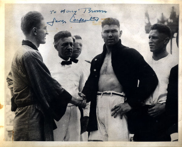 CARPENTIER, GEORGES SIGNED PHOTOGRAPH (DEMPSEY FIGHT)