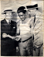 GARCIA, CEFERINO SIGNED PHOTOGRAPH (1938)