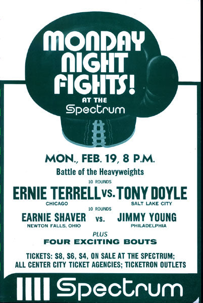 TERRELL, ERNIE- BILL DROVER & EARNIE SHAVERS-JIMMY YOUNG BROADSIDE POSTER (1973)