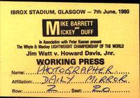 WATT, JIM-HOWARD DAVIS, JR. WORKING PRESS PASS (1980)