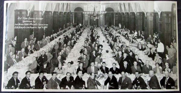 OLD TIME BOXERS DINNER PHOTO (1941-LOS ANGELES)