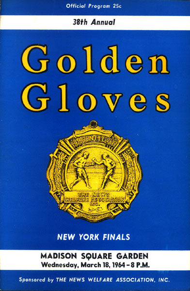 WEPNER, CHUCK GOLDEN GLOVES FINALS PROGRAM (1964)